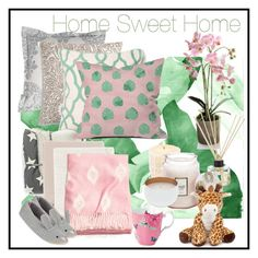 """Home Sweet Home"" by moniquebay on Polyvore featuring interior, interiors, interior design, home, home decor, interior decorating, Pottery Barn, Charter Club, Ledbury and Surya"