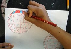 Op art how to. Other cool lessons on this blog too.
