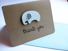 Baby Thank You Cards Elephants by SignatureExpressions on Etsy, $12.00