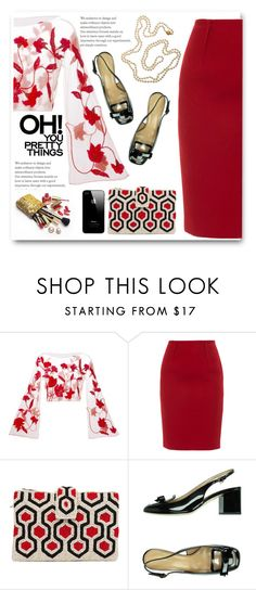 """""""Pretty Things"""" by juliehalloran ❤ liked on Polyvore featuring Giorgio Armani, Paule Ka, Akira Black Label, Dsquared2, Guerlain and Cathy Waterman"""