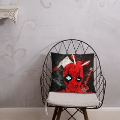 Deadpool Takes a Beating Pillow Afternoon Nap, Pillow Fight, Hanging Chair, Deadpool, Take That, Shapes, Pillows, Book Stuff, Comic Book