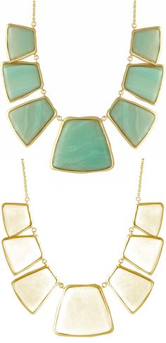White or turquoise? Both! Make a 2-in-1 statement with this reversible statement necklace.