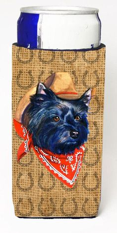 Cairn Terrier Dog Country Lucky Horseshoe Ultra Beverage Insulators for slim cans SP5221MUK