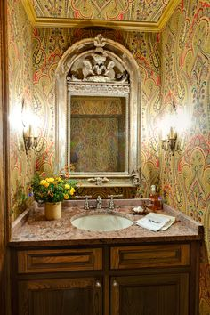 Country House Powder Room