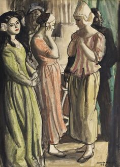 dame laura knight works | dame laura knight/1877-1970/'waiting to go on'