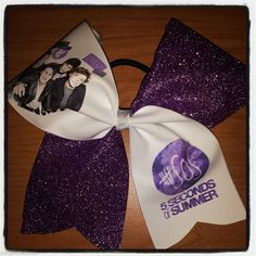 5SOS CHEER BOW five seconds of summer PURPLE