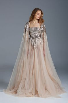 """Paolo Sebastian - S/S 2015-6 Couture. Taking the """"nearly naked"""" trend to another level, his collection ranges from semi-sheer to (nearly) baring it all. We think these Hans Christian Anderson-inspired gowns are the perfect balance between daring and fanciful.   WedLuxe Magazine #designerdress"""