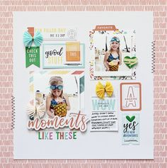 "Hello Pinkfresh fans! I'm here today with a couple of projects that I created using two of Pinkfresh Studio's newest collections, ""Be You"" and ""The Mix No. 2""! First up is a layout using the ""Be You"" collection... I began by cutting out a large, triangular-shaped design with my Silhouette machine and layering it on top of one of the gorgeous patterned papers from the collection. I love the subtle, rainbow dash stripes...so pretty and it makes the perfect..."