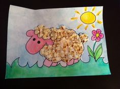 Pop corn collage by Angyelmade