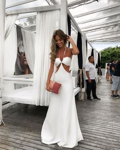 Sexy V Neck Long Prom Dresses ,Charming Evening Dresses Look Hippie Chic, Look Chic, Evening Dresses, Prom Dresses, Formal Dresses, Dress And Heels, Dress Up, Summer Vibe, Luxury Dress