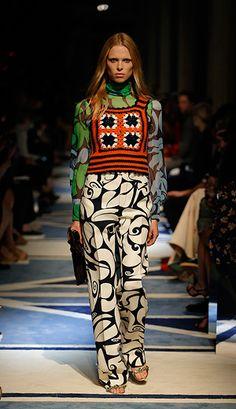 Crochet top on the fashion runway - Miu Miu