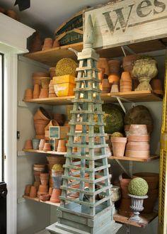 for the garden Obelisk Trellis, Garden Trellis, Obelisks, Garden Shop, Dream Garden, Garden Cottage, Shed Decor, Potting Tables, Garden Urns