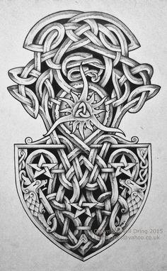 Celtic Phoenix by Tattoo-Design on DeviantArt Tatto Viking, Norse Tattoo, Irish Tattoos, Celtic Tattoos, Viking Symbols, Viking Art, Celtic Patterns, Celtic Designs, Body Art Tattoos