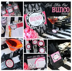 BUNCO PARTY NIGHT ~ 7 FREE PRINTABLES! Who wants to PLAY??!!