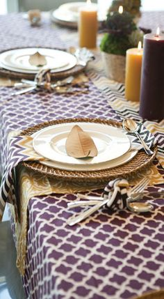 Perfect color scheme for a Thanksgiving table!