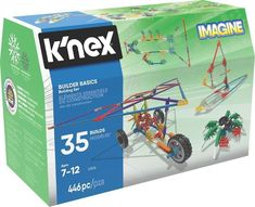 Build beyond and create WOW with K'NEX Imagine Builder Basics 35 Model Building Set. This set is a great starter kit and includes over 440 micro and classic scale K'NEX rods and connectors to build anything you can imagine. Model Building, Building Toys, Natural Curiosities, Age, Head Start, Level Up, Educational Toys, Learning Activities, Robot