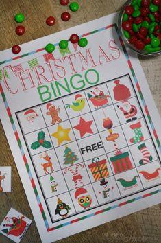 Christmas BINGO printable game - always fun to play with kids!