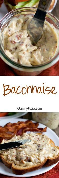 Baconnaise - Add fantastic flavor to any sandwich with this bacon-flavored mayonnaise!