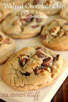 Walnut Chocolate Chip Cookies   Six Sisters' Stuff