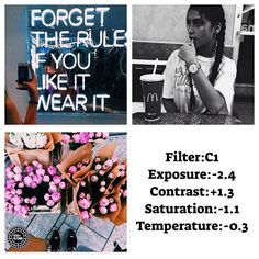 Multi filter feed/ Feed tips:Works best on colorful photos and you can use b&w filter to Free filter!