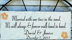 Beach Wedding Signs MARRIED in the Sand by familyattic on Etsy, $54.95