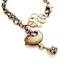 Brass Bracelet Handmade Jewelry Raw Brass Jewelry Chain by cdjali, $16.00