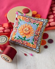 Symbol of happiness: The second in Sheena Rogers' exciting seasonal series feature chrysanthemums and citrine! Find it on page 18 of our November 242 issue of Cross Stitch Collection: http://www.crossstitchcollection.com/find-us/
