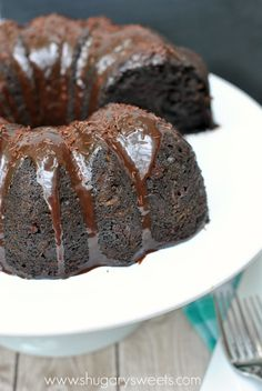 Chocolate Zucchini Cake, this is so moist and the chocolate ganache adds an extra touch of sweetness!