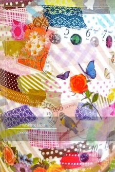 masking tape collage* Mt Washi Tape, Masking Tape, Collage, Pearls, Fun, Decor, Duct Tape, Collages, Decoration