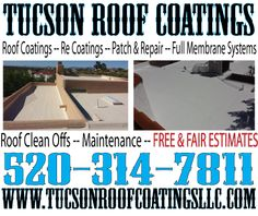 Better Products Equal A Better Roof Coating - http://tucsonroofcoatingsllc.com/?p=924 ... Roof Coating Tucson One Roof At A Time  Tucson Roof Coatings LLC 520-314-7811 www.TucsonRoofCoatingsLLC.com  #Roof #Tucson #Coating #Professional #Repair
