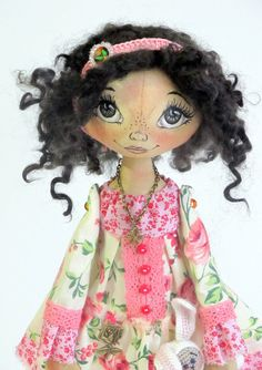 Textile cloth Art doll for Jenn. Please DO by ArtDollsByKseniya