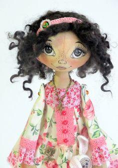Textile cloth Art doll for Jenn. Please DO by ArtDollsByKseniya