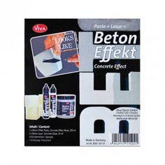 Beton Effekt-Set 7-teilig - idee. Creativmarkt