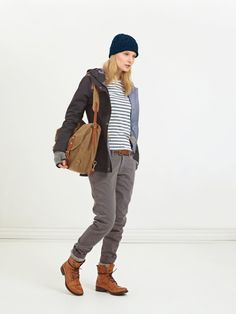 Peak Performance Fall Casual Collection model showing Anne Jacket,  the perfect Gore-Tex Jacket