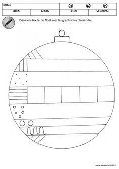 Graphisme : je décore la boule de Noël selon le graphisme demandé