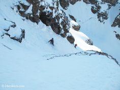 Joe Brannan backcountry skiing on North Maroon