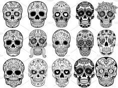 """Tradicionalmente, los tatuajes (tattoo) de calaveras mexicanas han simbolizado la muerte con una """"M"""" mayúscula, ¡pero no de una manera siniestra o negativa! Si hay un hecho innegable en este planeta, es que ningún ser humano escapa de la Parca, por rico o famoso que sea.! Mexican Skull Tattoos, Sugar Skull Tattoos, Mexican Skulls, Black Tattoos, Small Tattoos, Key Tattoos, Foot Tattoos, Sleeve Tattoos, Day Of The Dead Skull Tattoo"""