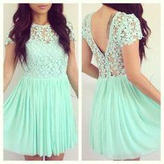 I freaking loovee this!!!! #mint blue dress
