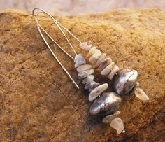 Stacked Opal Cairn Earrings with Handmade Silver Beads. $145.00, via Etsy.