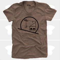 Eames Chairlift Women's TShirt Tee Shirt Womens by mediumcontrol