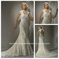 lace backless wedding dress mermaid---this is so gonna be my wedding dress someday! I LOVE this!!!