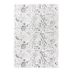 HEMTREVNAD, Fabric, white, black