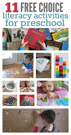 independent activities for preschool that promote literacy development. Great alphabet activities.