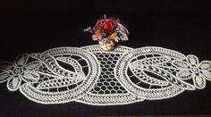 Vintage Romanian lace macrame deco for furniture by AdinasBluestar