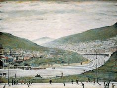 Six Bells, Abertillery, South Wales by Laurence Stephen Lowry Amgueddfa Cymru – National Museum Wales Date painted: 1962 Oil o. Wales Map, Picture Boards, Galleries In London, English Artists, Art Uk, Urban Landscape, National Museum, South Wales, Your Paintings