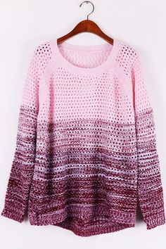 gradient-cutout-high-low-sweater