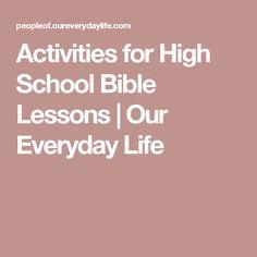 High school bible study curriculum