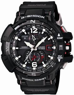 Casio Men Watches : Casio G-shock Sky Cockpit Mvt Radio Control Multiband 6 Casio G-shock, Casio Watch, Stylish Watches, Luxury Watches, Cool Watches, Watches For Men, Men's Watches, Dream Watches, Casio G Shock Watches