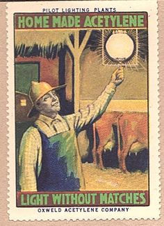 Acetylene Lamps in Rural America Poster Stamp