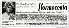 Original-Werbung/ Anzeige 1969 - MARIKA RÖKK VERWENDET HORMOCENTA - ca. 140 x 50 mm